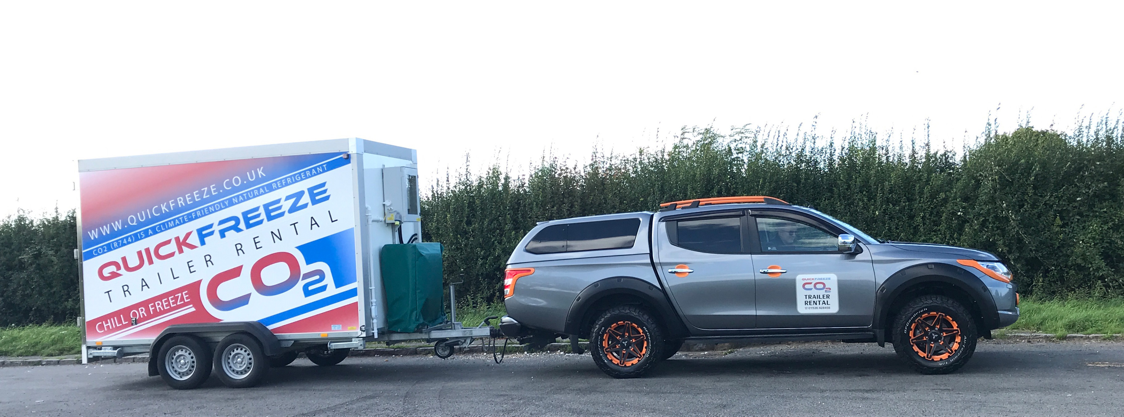 Quickfreeze Trailer and Car