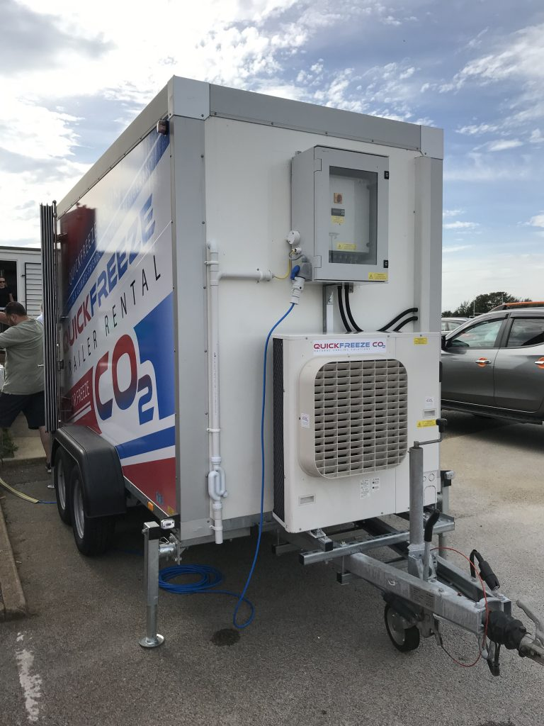 Refrigerated CO2 Trailer in operation