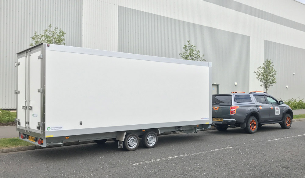 Large Custom CO2 Refrigerated Trailer